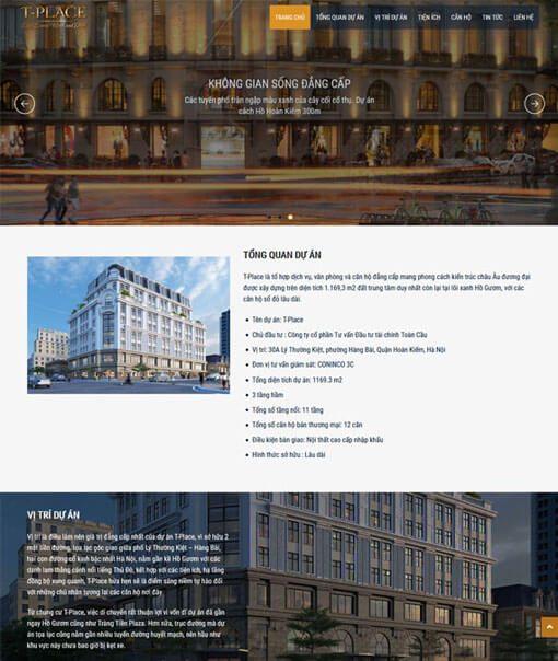 Thiết kế website bất động sản T-Place