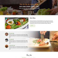 Thiết kế website nhà hàng 2 ngôn ngữ