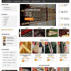 mẫu website bán sáo trúc