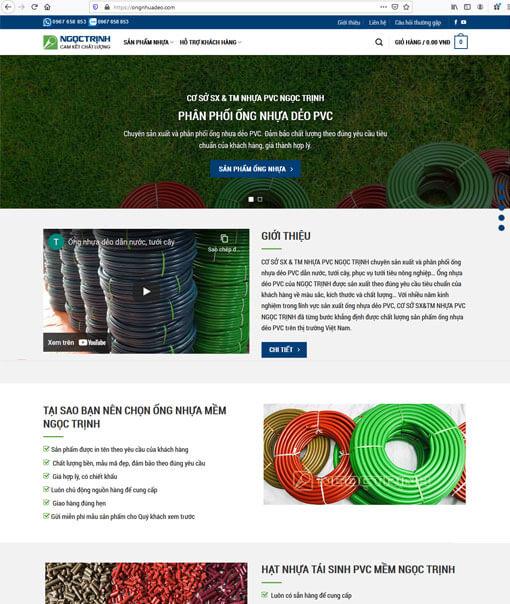 Mẫu website ống nhựa dẻo PVC