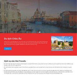 Mẫu website dịch vụ du lịch