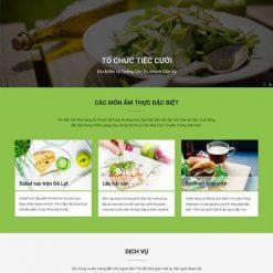 website nhà hàng ẩm thực